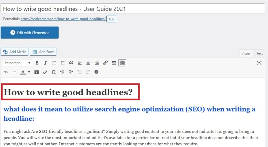 Importance of Header tags in Search Engine Optimization| 2021