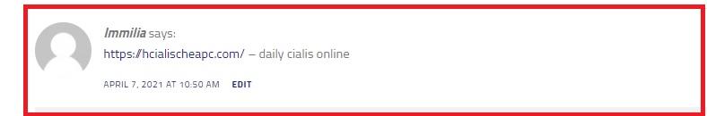 Spam comment Backlink